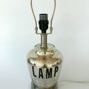 Lamp Desk Light Table Vintage Painted Lighting Office Bedroom Small Housewarming Present Brass Silver Glass Metal Black Leopard Gag Gift