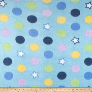 LAST CHANCE! Dots and Stars No Sew Fleece Baby Blanket