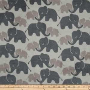 Elephant Love No Sew Fleece Baby Blanket