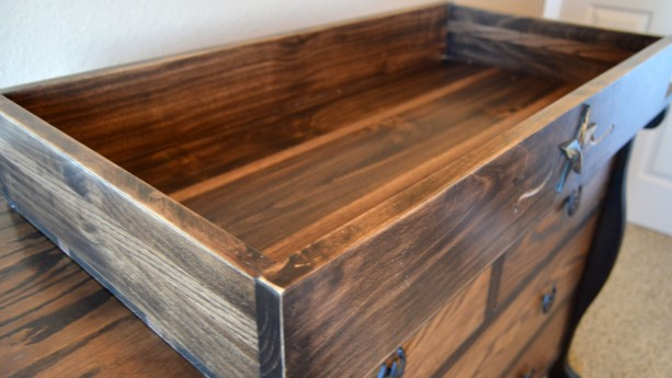 western changing table tray, baby changing table tray, country ta