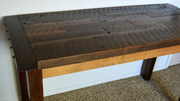"""Reclaimed Wood Rustic Home Office: Country Home Decor, Rustic Desk, """"Reclaimed Wood Desk"""