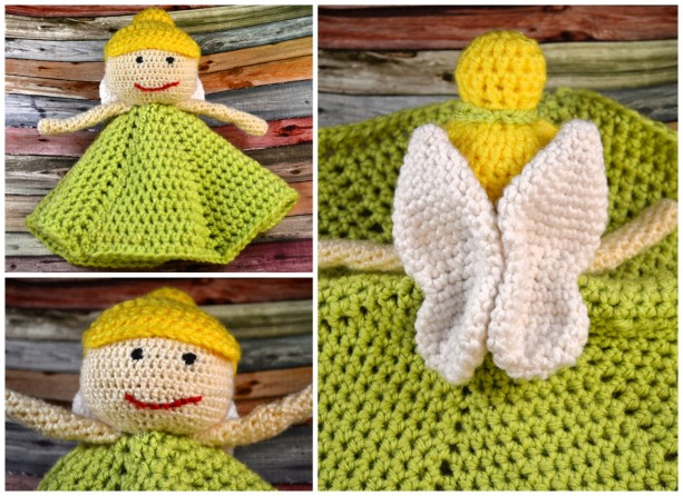 Crochet Fairy Lovey Tinkerbell Inspired Aftcra