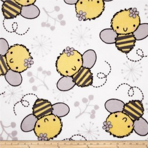 Baby Bees No Sew Fleece Blanket