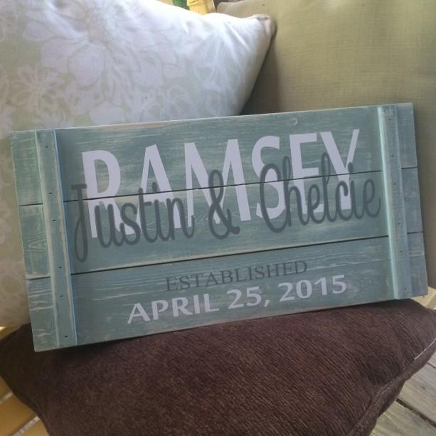 "Custom Wedding Signs I ""Established"" Wedding Signs I Mr. & Mrs. Signs"