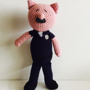 Crochet Police Pig Doll Amigurumi Law Enforcement