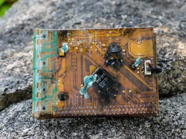 Handmade Cyberpunk Blank Book - apocalyptic, post-apocalyptic, art, apocalypse, steampunk, circuit , computer , component