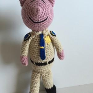 Crochet California Highway Patrol Police Pig Doll Amigurumi Law Enforcement CHP