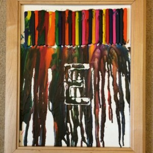 Melted Crayon Letter Art