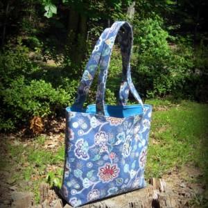 Dreamtime Blue Paisley Tote Bag