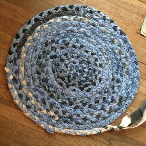 Braided Rag Rug - Upcycled Jeans