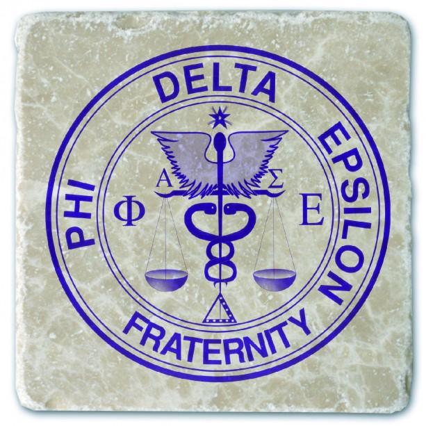 Phi Delta Epsilon Marble Coaster Aftcra
