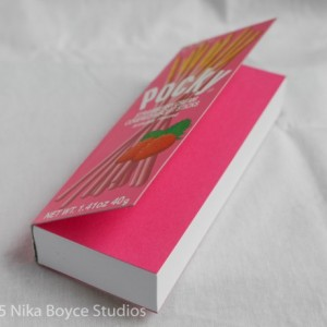 Pocky Collectible Handmade Book blank notebook journal diary gift Japan Kawaii Otaku strawberry Glico