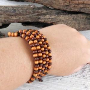 Boho Wooden Bracelet-Boho Jewelry-Bracelet-Bohemian Bracelet-Beaded Bracelet-Jewelry-Boho Bracelet-Bohemian-Gypsy Bracelet-Hippie Boho-bead