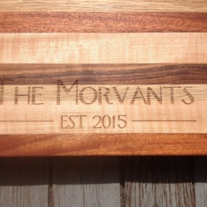 Custom laser engraving - Add to any board in my shop