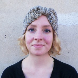 A Double Strand Knit Headband/Ear Warmer
