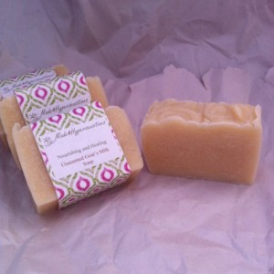 Organic & Healthy Full size Goat's Milk Soap: Moisturizing, Sensitive Skin, Acne, Wrinkle Care, Cellulite, Stretch Marks