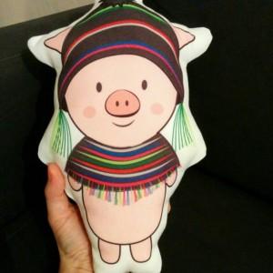 Pig Plush, Stuffed Pig, Softies, Plushies, Handmade Sewed, Kawaii Plush