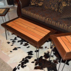 "Country Home Decor, ""FREE SHIPPING"", ""Reclaim Wood Coffee Table"" Set, Rustic Home Decor, Coffee Table Set"