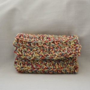 Multi color crochet wallet, handmade crochet wallet, coin purse, cotton crochet wallet, business card holder, crochet wallet snap