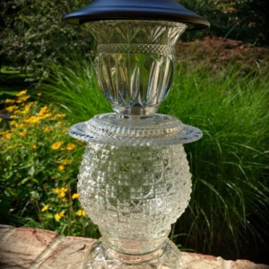 Christmas Lights One Antique Vintage Crystal Glass Solar LED Light