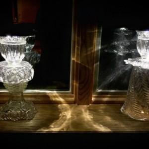 Christmas Lights One Antique Vintage Handmade Crystal Glass Solar LED Light