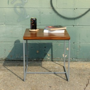 Modern Wood and Metal End Table - The Calvin Table - Simple High Quality Table - Contemporary Industrial High Quality table