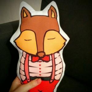 Fox Plush, Stuffed Fox, Softies, Plushies, Quiet Fox Plush, Handmade Sewed, Kawaii Plushie, Fox Plushie, Plushie
