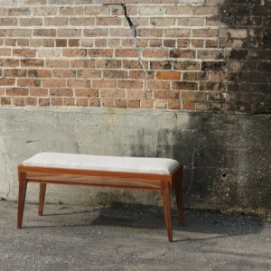 Modern Piano Bench - The Alan Bench - Handmade Solid Hard Wood and Upholstery Bench - Eloquent Hidden Storage and Seating