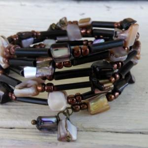 Glass Boho Bracelet-Bohemian Bracelet-Hippie Bracelet-Gypsy Bracelet-Beaded Boho Bracelet-Beaded Bracelet-Boho Jewelry-Stack Bracelet-Boho