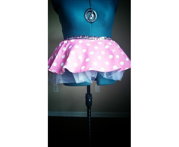 Iconic Pink Minnie Mouse Running Skirt Tutu perfect for Run Disney!