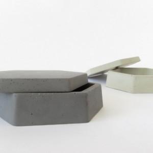 Geometric Concrete Jewelry Box    Ring Dish    Catch All