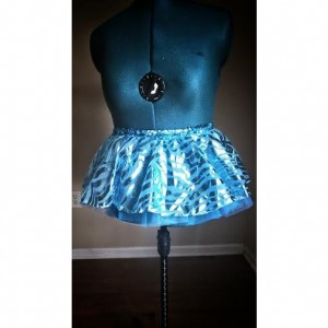 Blue Zebra Run Diva Running Skirt Tutu