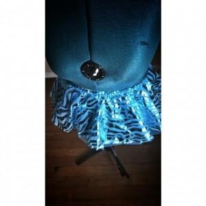 Blue Zebra Run Diva Running Skirt Tutu