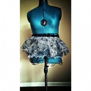 Limited Edition Black Widow Spider Running Skirt Tutu Perfect for Halloween!
