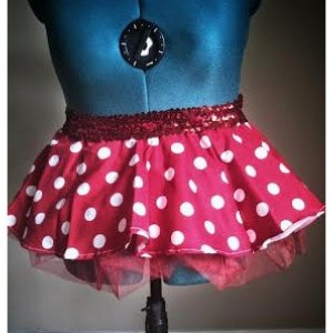Red Minnie Mouse Running Skirt Tutu