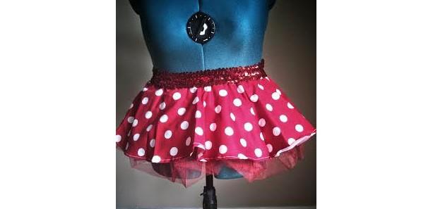 Red Minnie Mouse Running Skirt Tutu