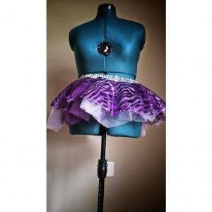 Purple Zebra Run Diva Running Skirt Tutu