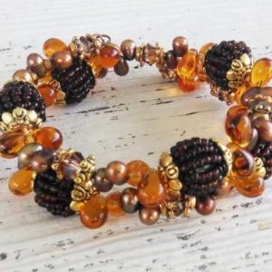 Golden Autumn Boho Fall Bracelet-Boho Jewelry-Bracelet-Bohemian Bracelet-Beaded Bracelet-Jewelry-Boho Bracelet-Bohemian-Gypsy Bracelet-Boho