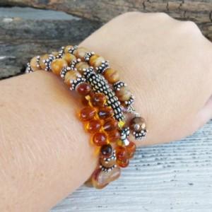 Boho Honey Spice Gem- Boho Bracelet-Bohemian Jewelry-Boho Jewelry-Ladies Bracelet-Beaded Bracelet-Bohemian Jewelry-Beaded Jewelry