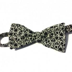 White Web Bow tie
