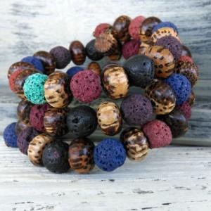 Bohemian Coral Bracelet-Boho Bracelet-Bohemian Jewelry-Boho Jewelry-Ladies Bracelet-Beaded Bracelet-Bohemian Jewelry-Beaded Jewelry-Hippie