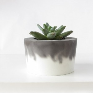 L Organic Pads >> Black and White Concrete Planter || Cement Pot | aftcra