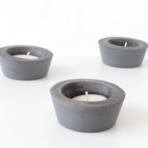 Concrete Tealight Candle Holder Set
