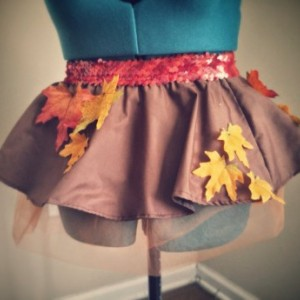 Limited Edition Fall Foliage Running Skirt Tutu Pefect for Halloween