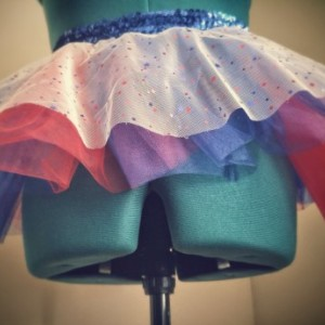 USA Patriotic Red White and Blue Running Skirt TuTu