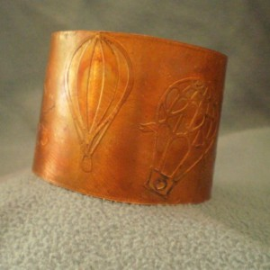 2 Inch Copper Heat Colored Bracelet with Balloons