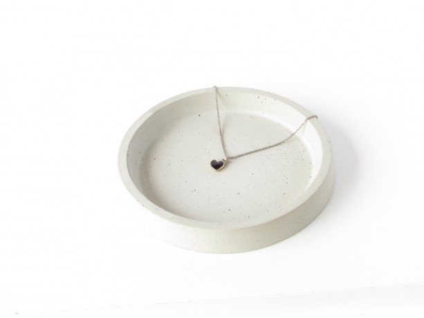 Concrete ring dish || base for planters || catchall || key holder