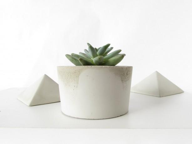 Concrete Planter || Cactus and Succulent Cement Pot