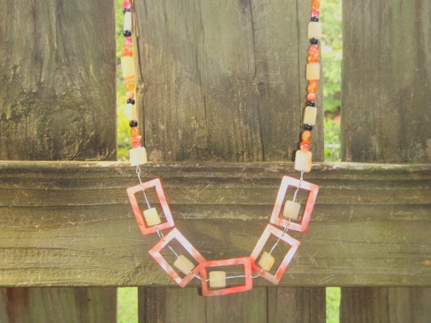 Rectangular Bead Necklace