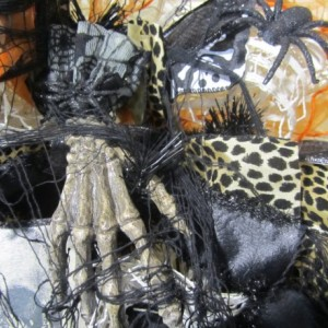 Black Mesh Halloween Wreath, Spider Web Wreath, Skeleton Hands Wreath,  Spooky Wreath, Ghost Goblins Wreath